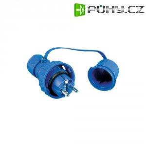 Vodotěsná zástrčka s ochranným kontaktem, modrá