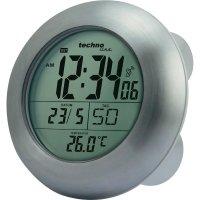 DCF hodiny do koupelny Techno Line WT 3000, 172 x 54 mm, stříbrná