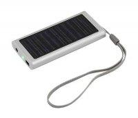 MINI solární záložní nabíječka s akumulátorem Powerbank + koncovky USB