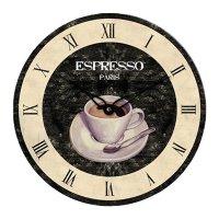Analogové nástěnné hodiny retro Techno Line WT1015, Espresso, Ø 34cm