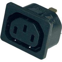 Vestavná síťová IEC zásuvka C13 Kaiser, 250 V, 10 A, vertikální, 796/15/63/sw/C
