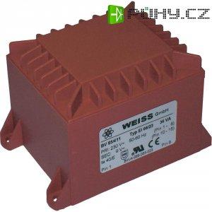 Transformátor do DPS Weiss Elektrotechnik 85/417, 36 VA, 2 X 9 V, 2 A