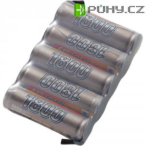 Akupack přijímače NiMH Conrad Energy AA, 6 V, 1800 mAh, Side by Side, s páj. hroty