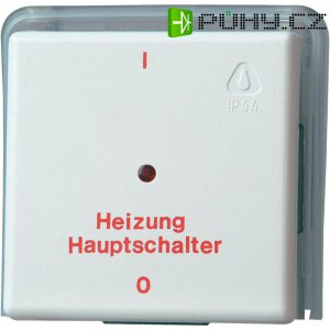 Nouzový vypínač topení Kopp Arktis, IP44, 230 V/AC, bílá