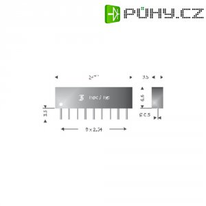 Usměrňovací diodové pole Diotec DAP801, U(RRM) 80 V, 8 x 25 mA