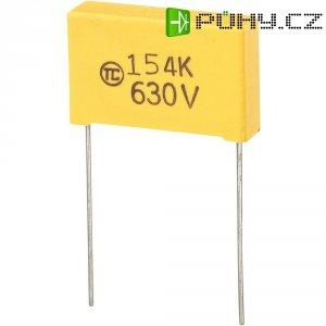 Foliový kondenzátor MKS, 0,15 µF, 630 V, 5 %, 26,5 x 7 x 17 mm
