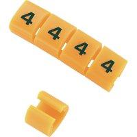 Označovací klip na kabely KSS MB2/4 548579, 4, oranžová, 10 ks