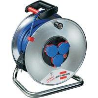 Kabelový buben Brennenstuhl Garant S240, 1199830, 3 zásuvky, 50 m, modrá