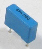 47n/100V TC353, svitkový kondenzátor radiální RM=7,5mm