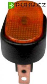 Kolébkový přepínač do auta SCI R13-133B-SQ YELLOW, 12 V/DC, 30 A, s aretací, 1 ks