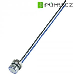 Piezo tlačítko, 24 V DC/AC, 0,2 A, IP 68, PS165P10Y01B24, modrá LED, ploché