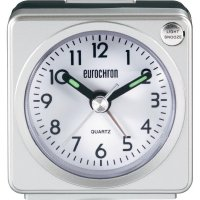 Analogový quarz budík Eurochron EQW-1200, stříbrná/bílá