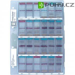 Sada Zenerových diod BZX83 16 řad Zenerových diod od 2,7 V do 47 V v balení po 10 ks