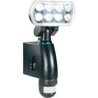 Venkovní nástěnné LED svítidlos PIR, 14 W, černá