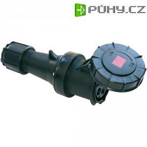CEE zásuvka na kabel 235-6xs PCE, 63 A, IP44, černá