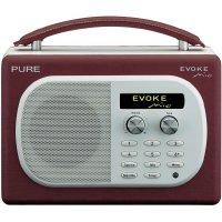 DAB+ rádio Pure Evoke Mio Cherry, FM, červená/bílá
