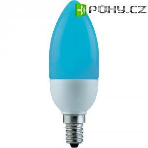 Úsporná žárovka svíčka Paulmann E14, 5 W, modrá