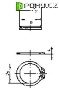 Pojistné kroužky TOOLCRAFT 9 D471 194748, DIN 471, vnitřní průměr 8,4 mm, 100 ks