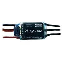 Regulátor otáček Brushless Hacker X-Pro, 5 - 10 NiCd / 2 - 3 LiPo, 12 A, JR