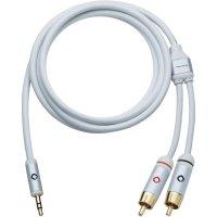 Připojovací kabel Oehlbach, jack zástr. 3.5 mm/cinch zástr., bílý, 3 m