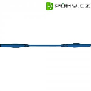 Měřicí kabel banánek 4 mm ⇔ banánek 4 mm MultiContact XMF-419, 1,5 m, modrá