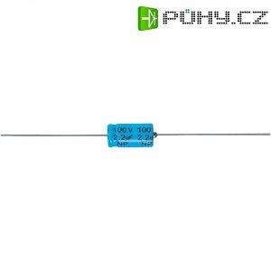 Kondenzátor bipolární, 100 uF, 100 V/DC, 35 V/AC, 18 mm x 38 mm