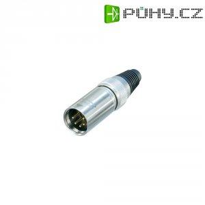 XLR kabelová zástrčka Neutrik X-HD-Serie, rovná, 5pól., 3,5 - 8 mm, IP65, stříbrná