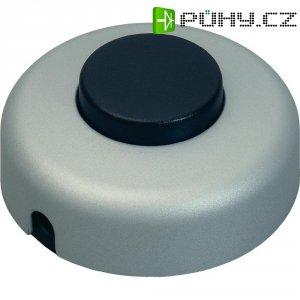 Nášlapný vypínač interBär, 1pólový, 250 V/AC, 2 A, titan/černá