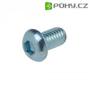 Šrouby s čočkovitou hlavou a vnitřním šestihranem TOOLCRAFT, ISO 7380, M3x 6 mm, 100 ks