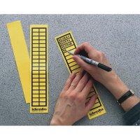 Popisovatelné etikety TE Connectivity 6-1768019-9, 38 x 11 mm, žlutá