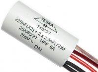 Odrušovací filtr TSK27 220n+2x2n5 250VAC/6A 5vývod