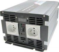 Měnič 24V/230V 2000W,modifikovaná sinusovka,JYINS, Nefunkční.