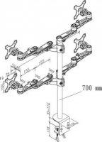 """Stolní držák na monitor, 25,4- 66 cm (10\"""" - 26\"""") NewStar FPMA-D935D4, stříbrný"""