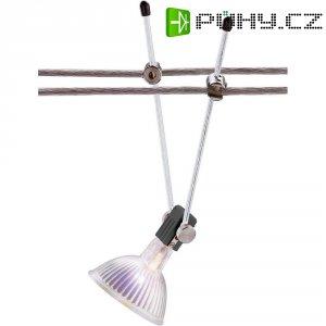 Lankové bodové svítidlo na tyčce, GX5.3, 12 V, 35 W, stříbrná
