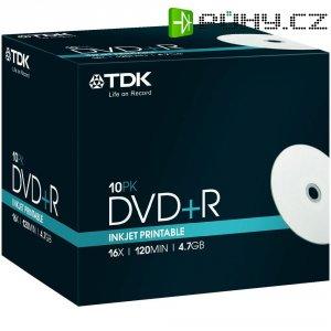TDK DVD+R 4,7GB 16X 10 ks JEWELCASE PRINT