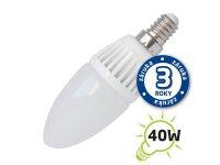 Žárovka LED C37 E14 5W bílá přírodní (Al)