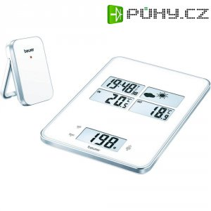 Kuchyňská váha s meteostanicí Beurer, 708.30, bílá