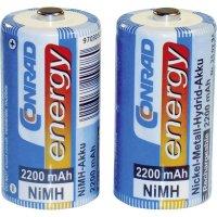 Akumulátor Conrad energy, NiMH , C, 2200 mAh, 2 ks