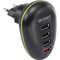 USB nabíječka Voltcraft SPS-2400/4, 4x USB, 1 A