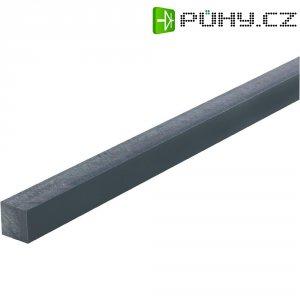 PVC 4-hranný profil 500 x 20 x 20 mm