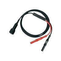 Měřicí kabel Testec 8066-50-100-S, 1 m, černá/červená