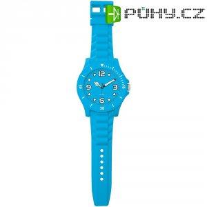 Analogové nástěnné hodiny v provedení hodinek, 2227K-EPR, Ø 30 x 100 cm, modrá