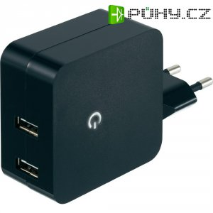 USB síťový adaptér Voltcraft SPS-2400/2+, 2x 2400 mA