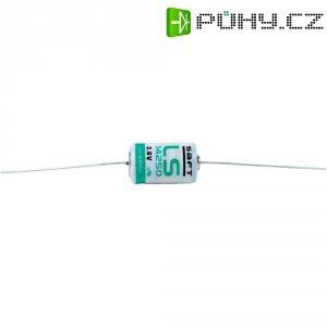 Lithiová baterie Saft, typ 1/2 AA, s pájecími kontakty