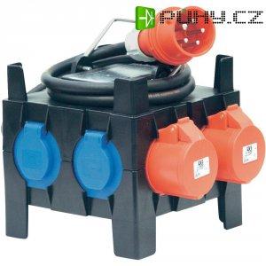 CEE rozbočovač PCE, zástrčka 16 A ⇒ 2x CEE a 5x schuko zásuvka, 400 V, IP44