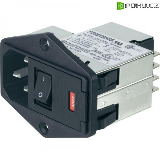 Síťový filtr TE Connectivity, PS000DH3B=C1259, 250 V/AC, 3 A - Kliknutím na obrázek zavřete