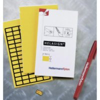 Látkové štítky v bloku HellermannTyton TAG124FB-270-YE (598-92427), 19 x 11 mm, žlutá