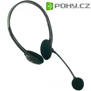 Sluchátka s mikrofonem Deluxe LogiLink Stereo