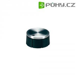 Otočný knoflík se zajišťovacím šroubem OKW, 6 mm, stříbrná/černá