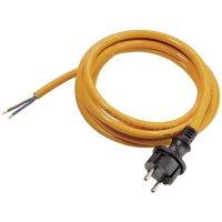 Síťový kabel AS Schwabe 70917, zástrčka/otevřený konec, 1,5 mm², 5 m, oranžová